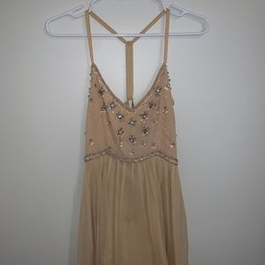 Light Pink Formal Dress with beading